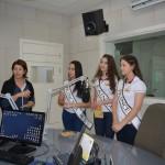 A Rainha Rafaela Roman e as Princesas Camila Roveda e Andrieli Franzon, visitaram a Rádio Encanto FM, de Encantado/RS