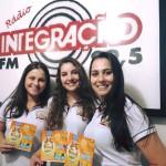 A Rainha Rafaela Roman e as Princesas Camila Roveda e Andrieli Franzon, visitaram a Rádio Integração FM, de Guaporé/RS.